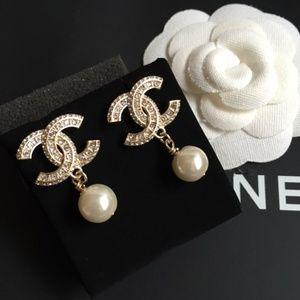 Chanel Pearl Dangle Earrings